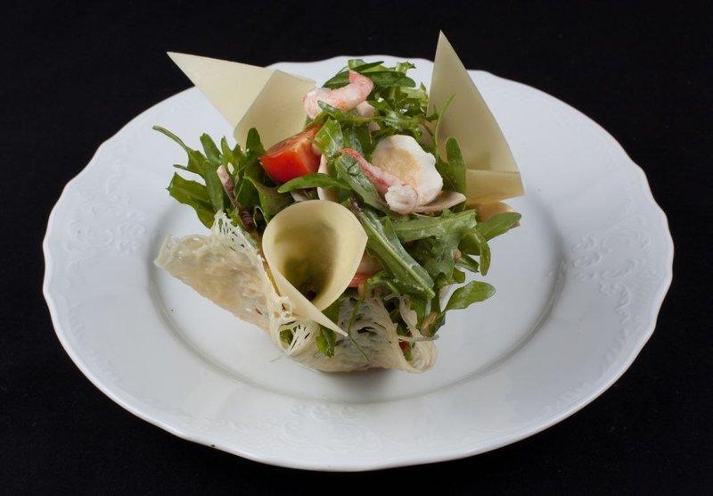 Как украсить салаты для ресторана