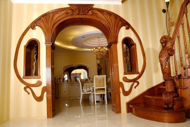 Деревянные межкомнатные арки