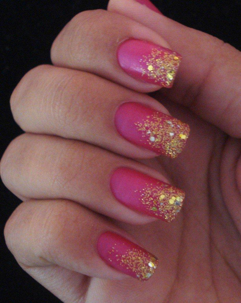Дизайн ногтей с блестками фото