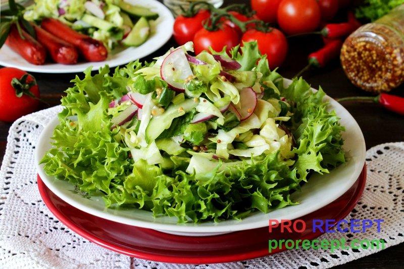 Салат со свежими овощами рецепт