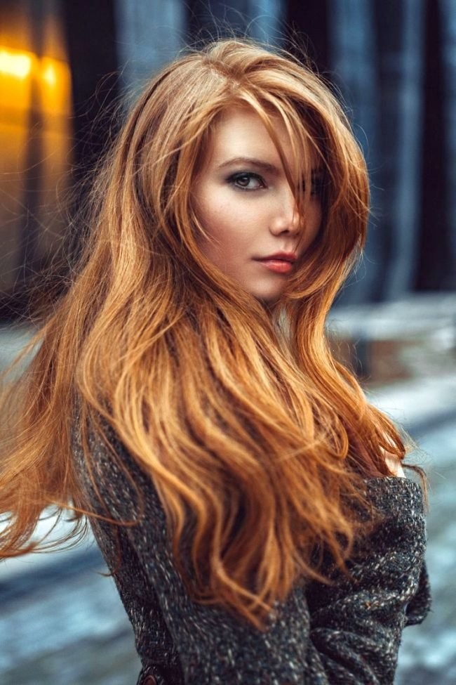 Русый цвет волос с рыжим оттенком