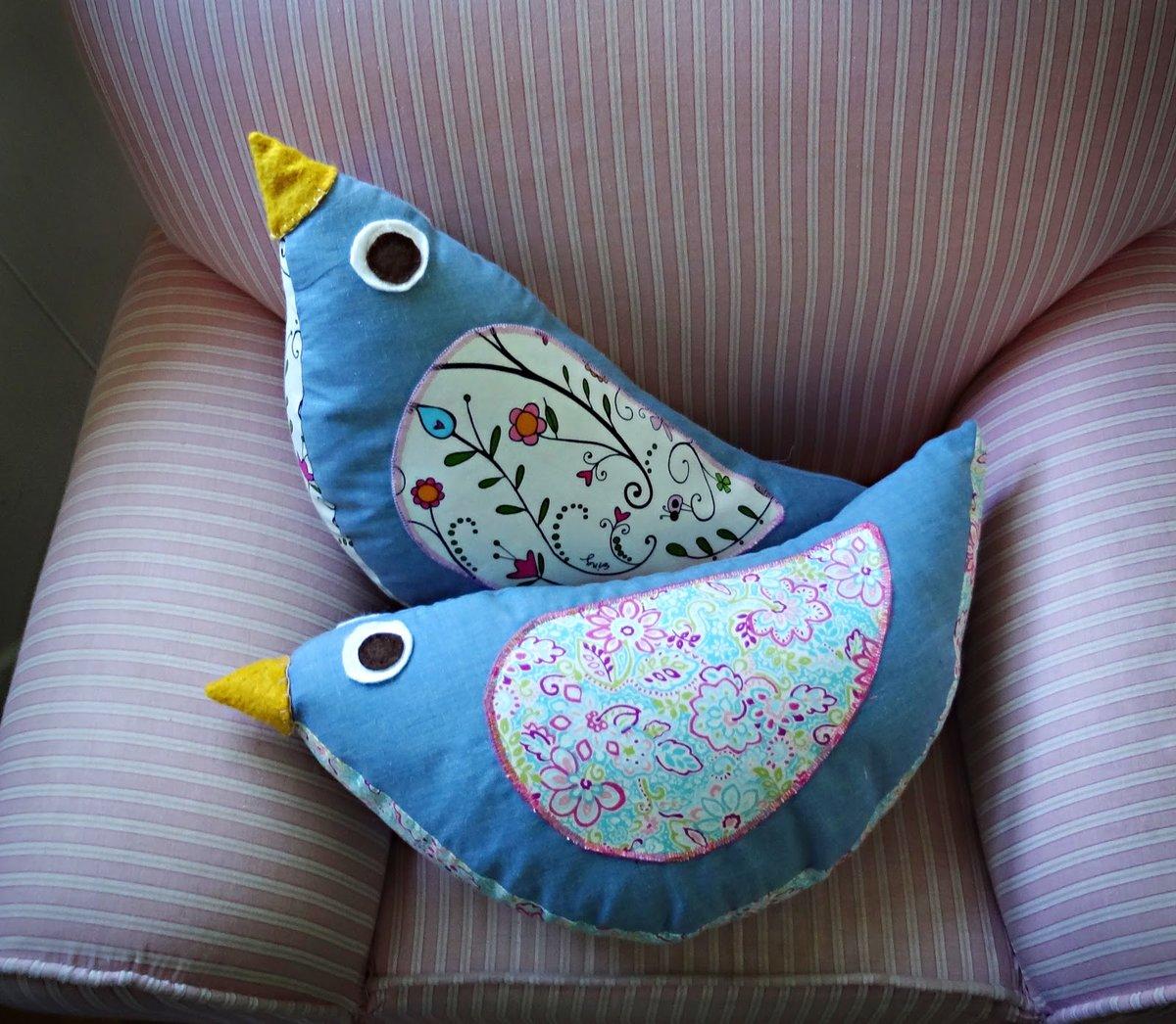 Птица своими руками из ткани, мастер класс / Игрушки 96