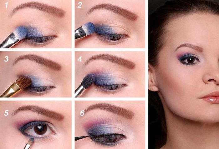 Как красиво накрасить глаза с нависшими веками пошагово 5