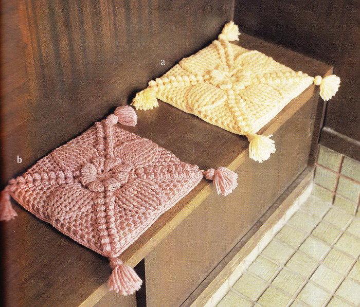 Вязание сидушки для стульев 349