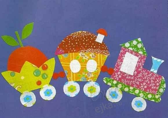 Поделки из ткани-аппликации для детей