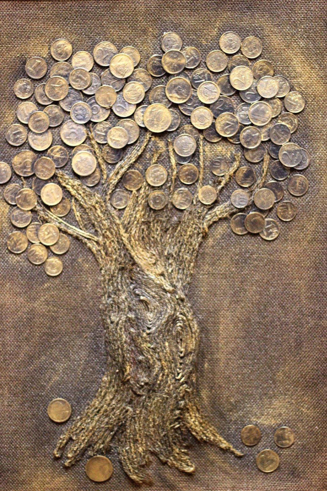 Панно из монет как сделать