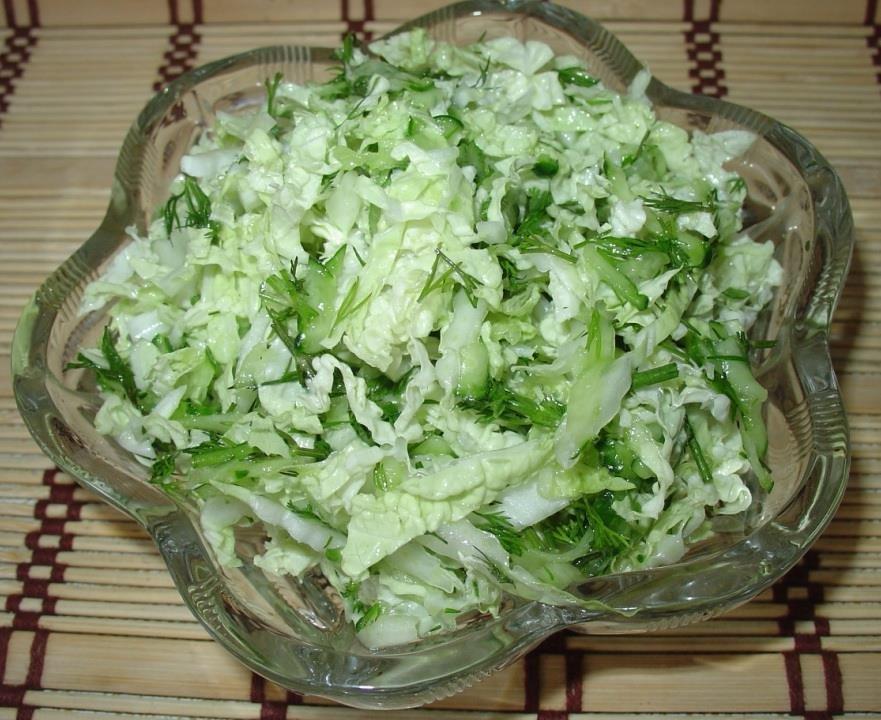 Салат простой с пекинской капустой рецепт