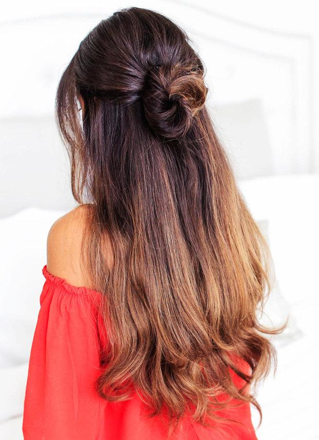 Причёски с длинным волосом как их сделать самой