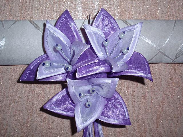 Как сделать цветок на шторы из ткани своими руками 21