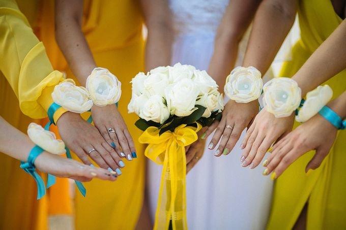 Как сделать бутоньерку для подруг невесты