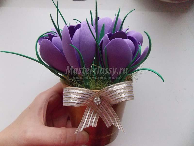 Весенние цветы из фоамирана своими руками 151