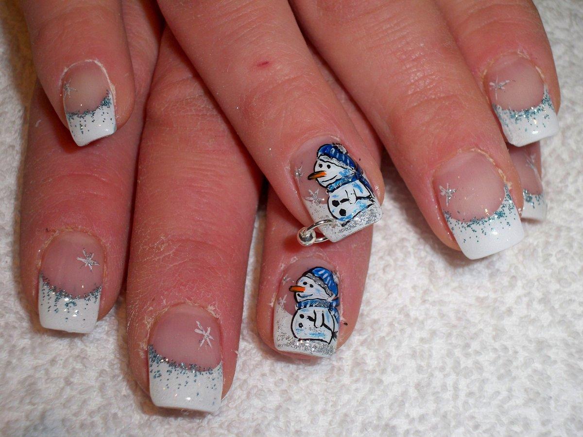 Новогодний рисунки ногтей фото