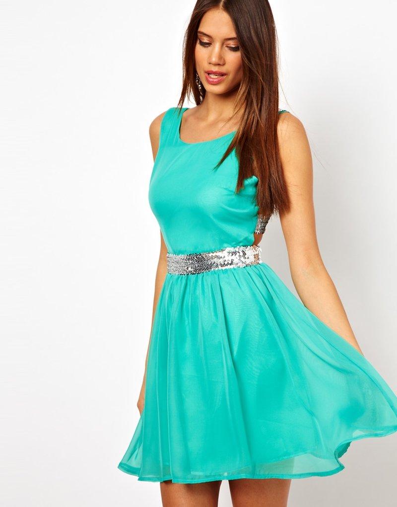 Фото коротких платьев из шифона