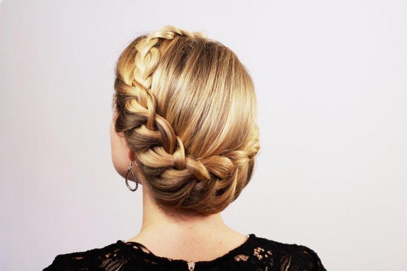 Греческие косы в прическах фото