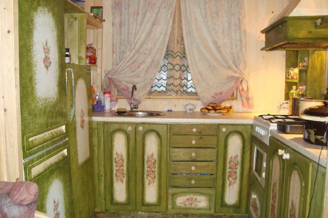Декупаж кухонный гарнитур своими руками фото 979