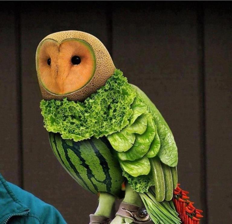 Поделки прикольные из овощей