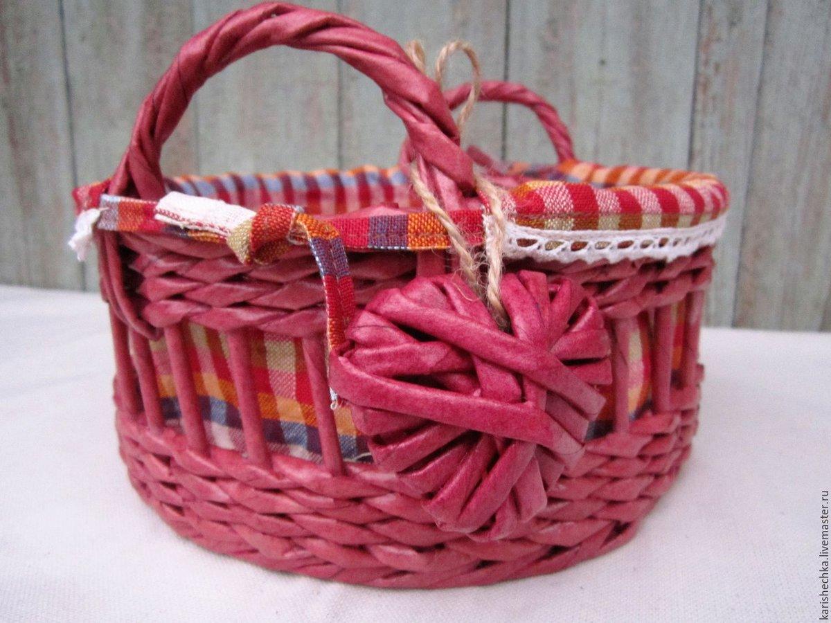 Плетение корзинки за 2 вечера из любой бумаги мастер-класс 30