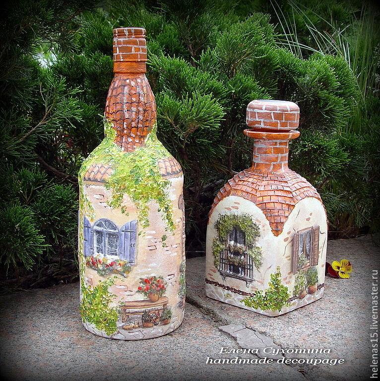 Как сделать декупаж из бутылки