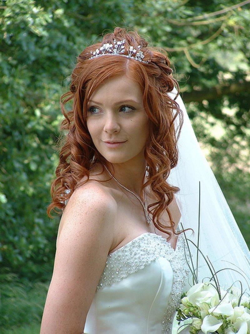 Свадебные прически для рыжих