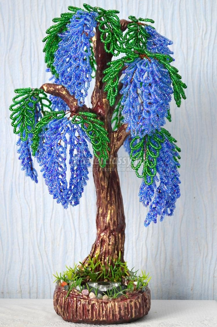 Бисерное дерево своими руками мастер класс