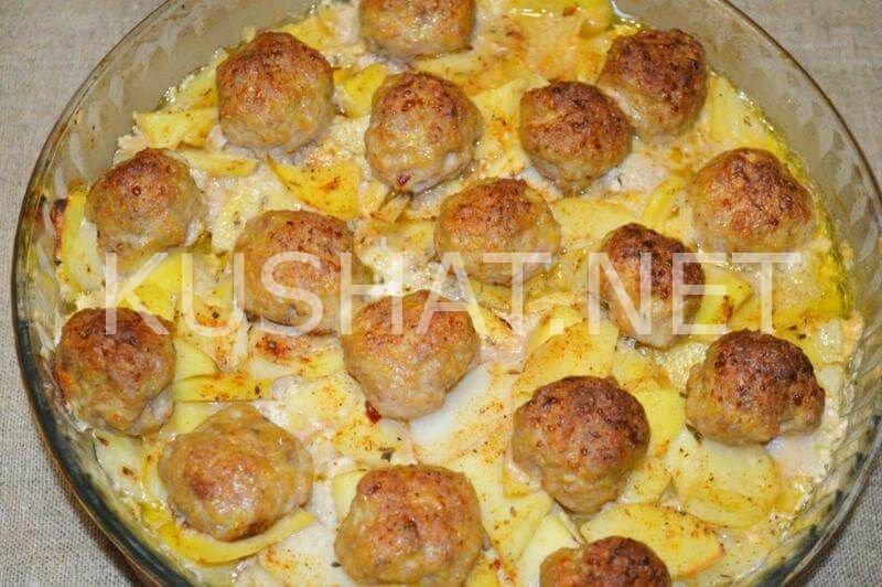 Что приготовить из фрикаделек и картошки