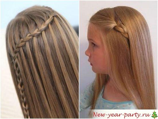 Прическа девочке на длинные распущенные волосы