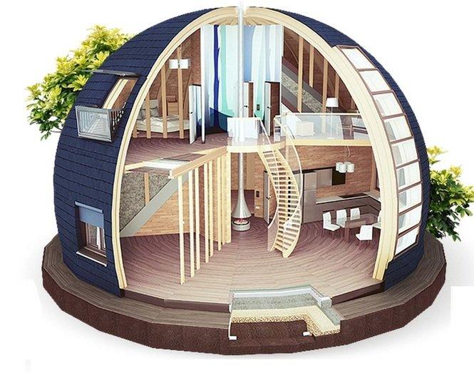 Цилиндрический дом своими руками проекты 42