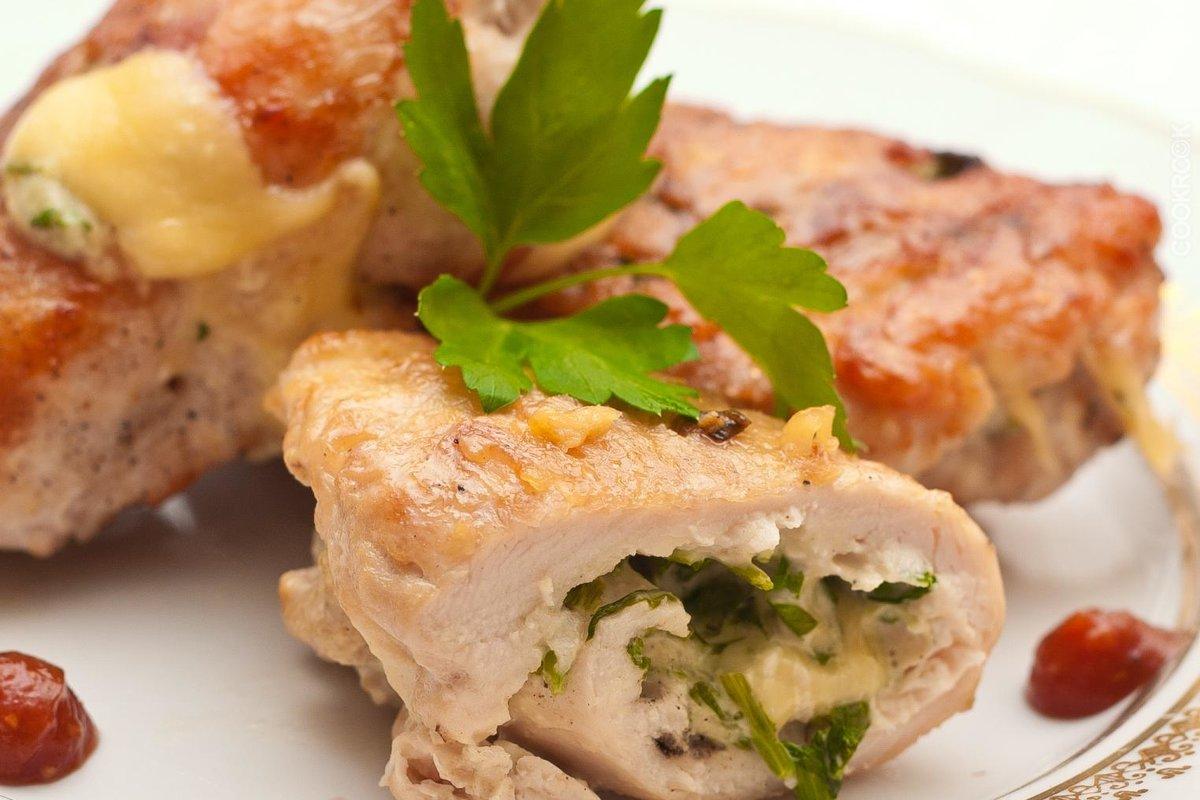 Куриные рулетики с ветчиной и сыром в духовке рецепт пошагово