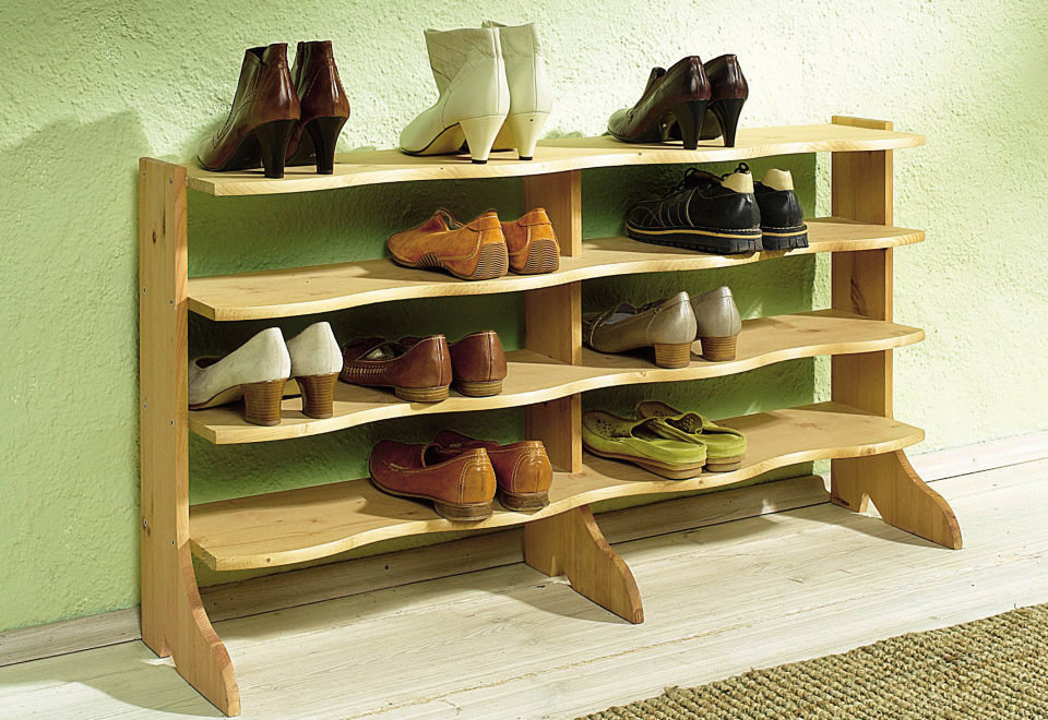 Деревянная этажерка для обуви своими руками