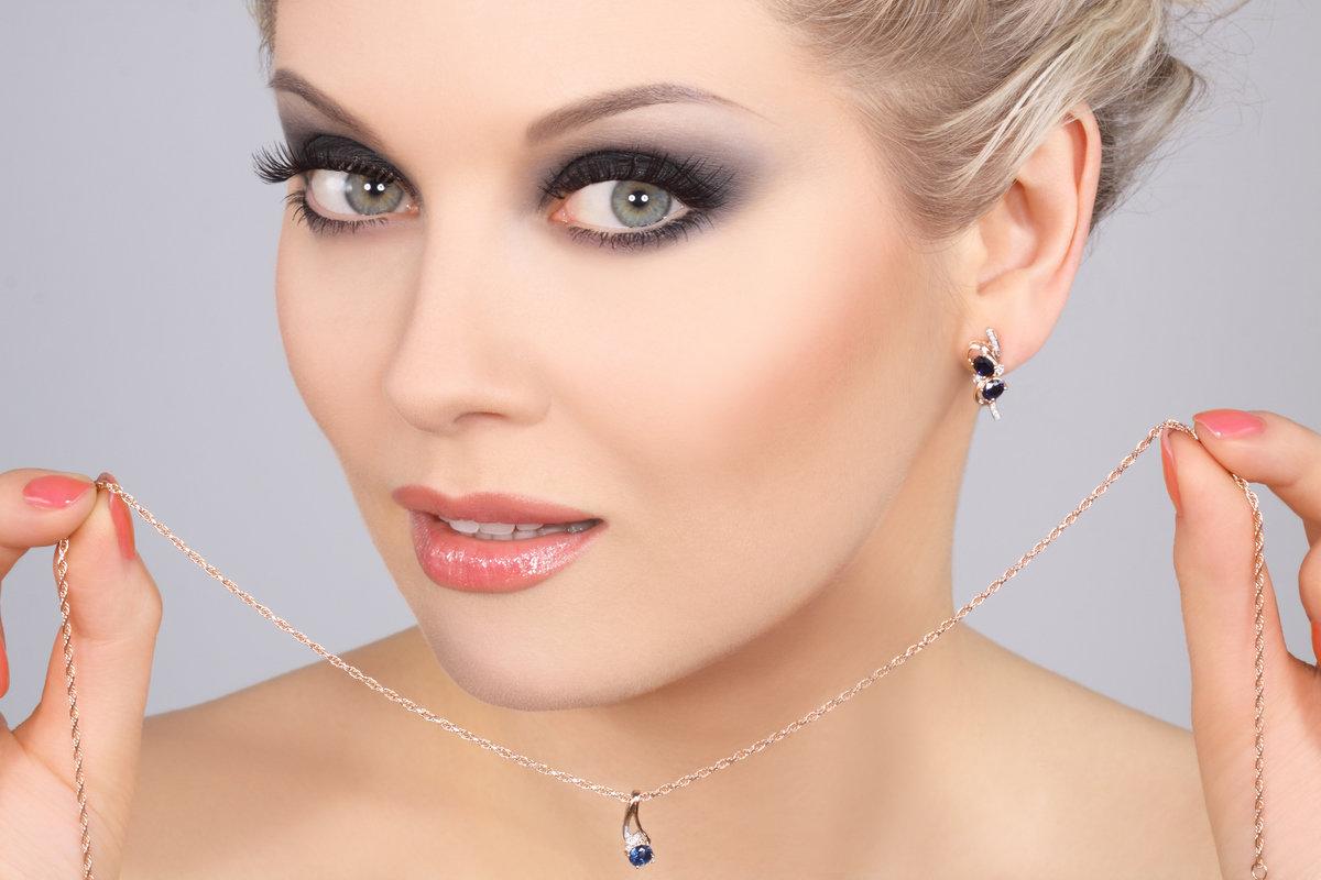 Свадебный макияж фото для серых глаз и