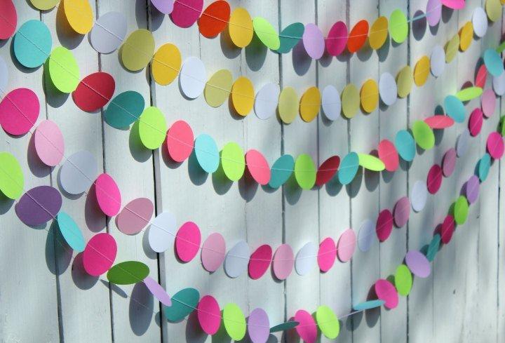 Гирлянды из бумаги для стены - карточка от пользователя LisaNatasha927 в Яндекс.Коллекциях