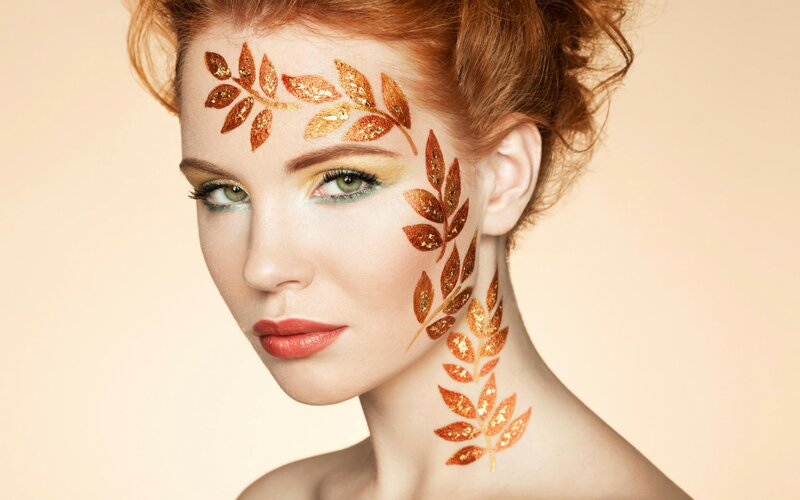 Осенний макияж на осенний бал