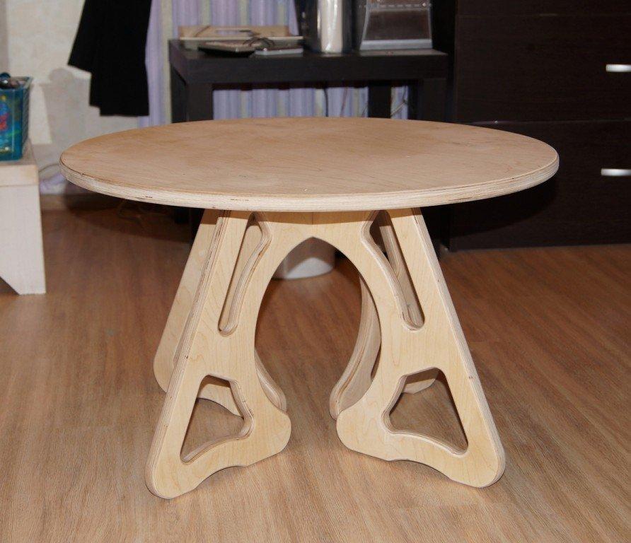 Сделать столик из фанеры своими руками 58