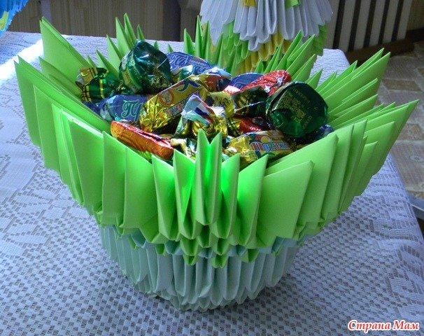 Вазочка для конфет из бумаги своими руками