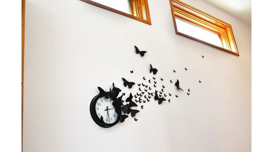 Бабочки своими руками на стену в комнате