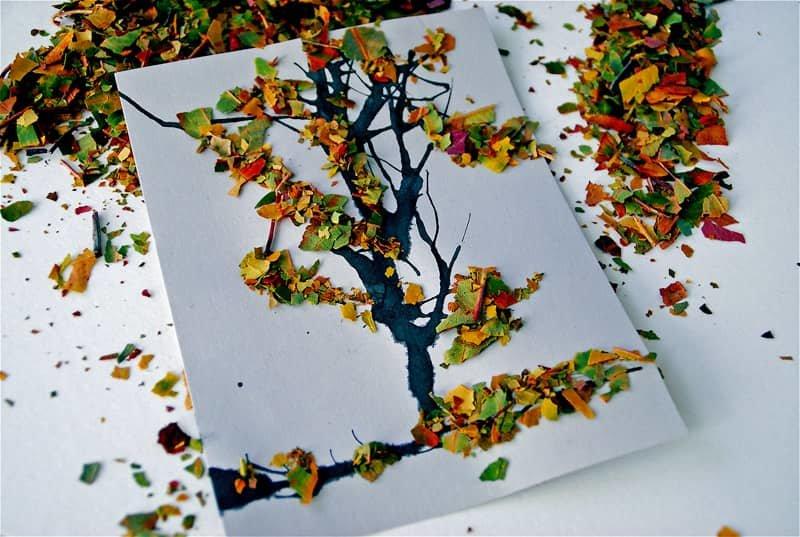 Из осенних листьев поделки с детьми 889
