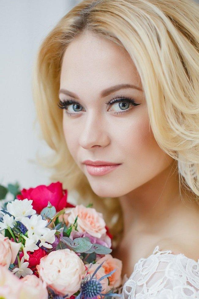 Свадебный макияж для блондинок с фото 34