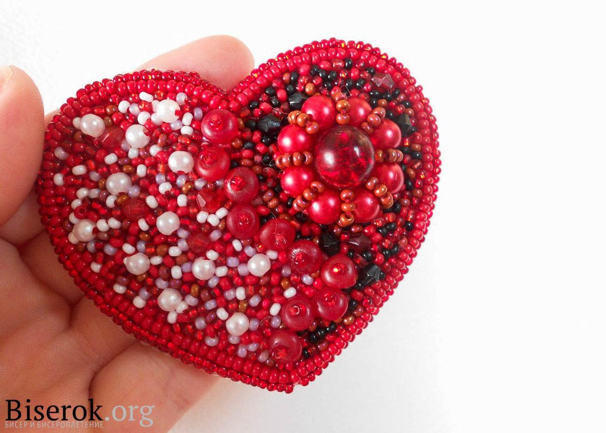 Сердце из бусинок своими руками