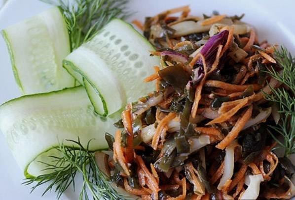 Салат из кальмаров с растительным маслом рецепт