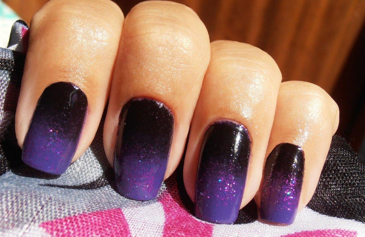 Омбре на ногтях фото с фиолетовым