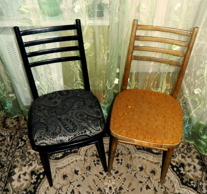 Обновить деревянные стулья своими руками