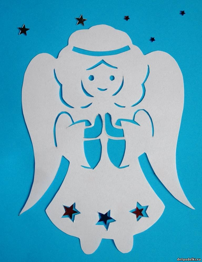 Ангел на бумаге своими руками 25