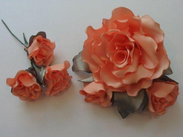 Изготовление искусственных цветов из ткани