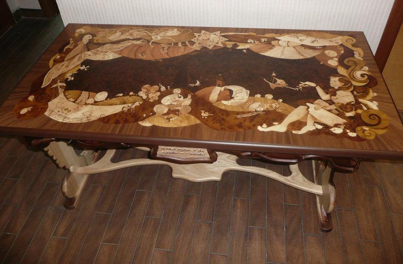 Инкрустация своими руками мебель
