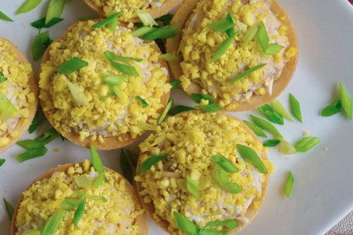 Печень трески с сыром в тарталетках рецепты