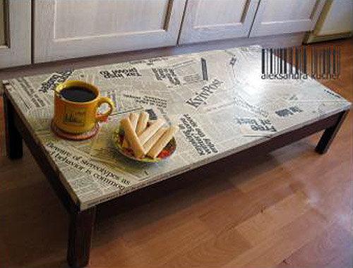 Журнальный столик своими руками из журналов 12