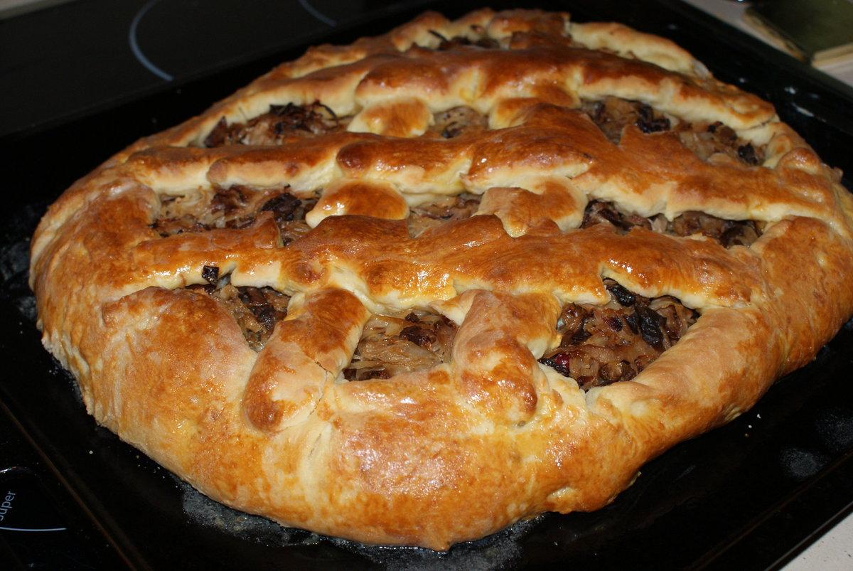 Пироги с капустой и грибами рецепт пошагово в духовке