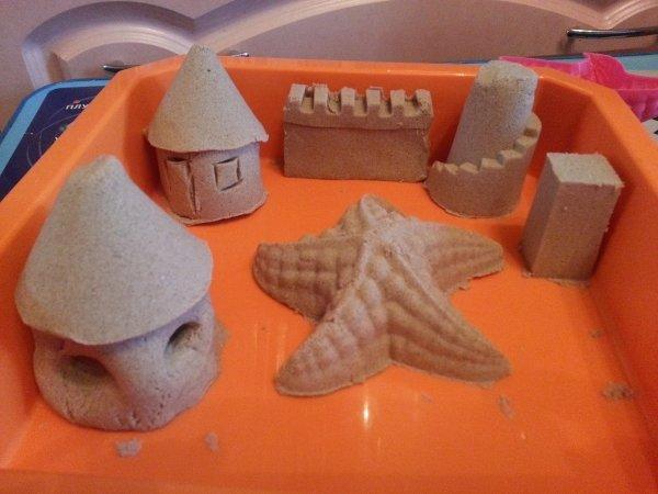 Кинетический песок поделки фото