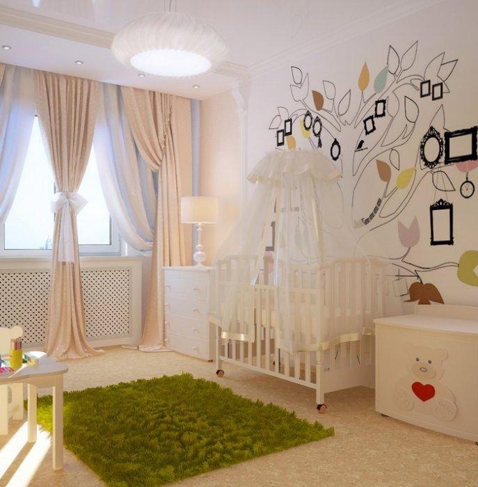 Комната для новорожденного, дизайн и планирование. Более 70