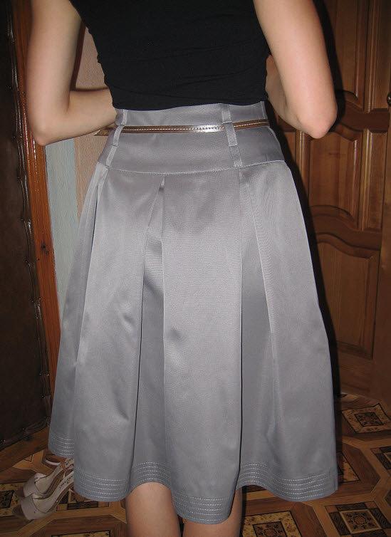 Как сделать шлёвки на юбке